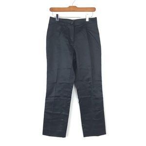Celine Pants Sz 38 Black Cotton Trousers Ankle